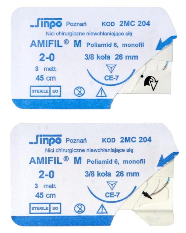 Amifil nici chirurgiczne niewchłanialne nylon saszetka