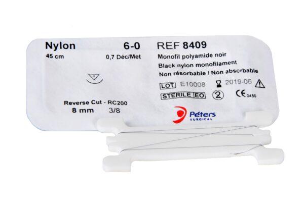 Nylon black nici chirurgiczne niewchłanialne okulistyczne saszetka