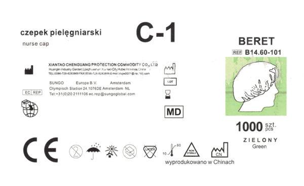 czepek medyczny C-1-etykieta