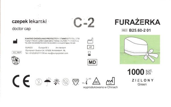 czepek medyczny C-2 etykieta
