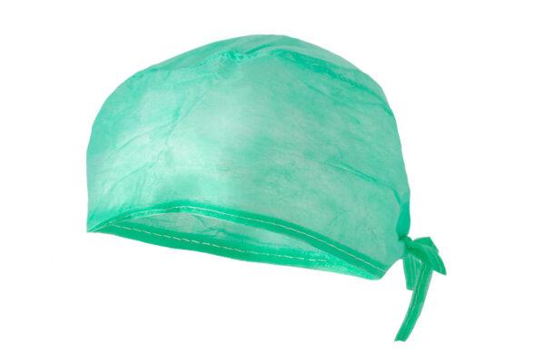 czepek chirurgiczny furażerka zielony