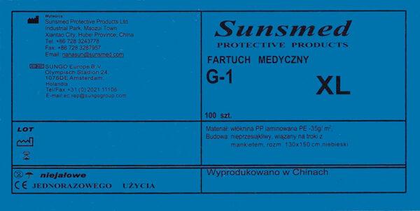 fartuch laminowany G-1 XL-etykieta