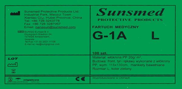 fartuch medyczny G-1A L etykieta