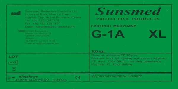 fartuch medyczny G-1A XL etykieta