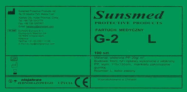 fartuch G-2L-etykieta