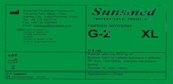 fartuch G-2XL-etykieta