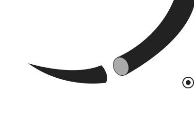 igła chirurgiczna okrągła czarna
