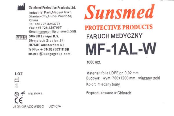 fartuch foliowy MF-1AL-W-etykieta