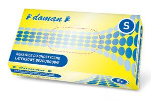 rękawiczki lateksowe bezpudrowe doman S