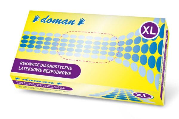 rękawiczki lateksowe bezpudrowe doman XL