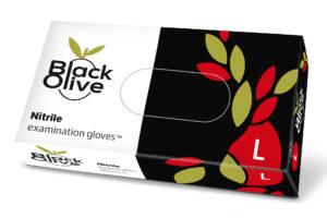 Rękawiczki nitrylowe jednorazowe Black Olive_L