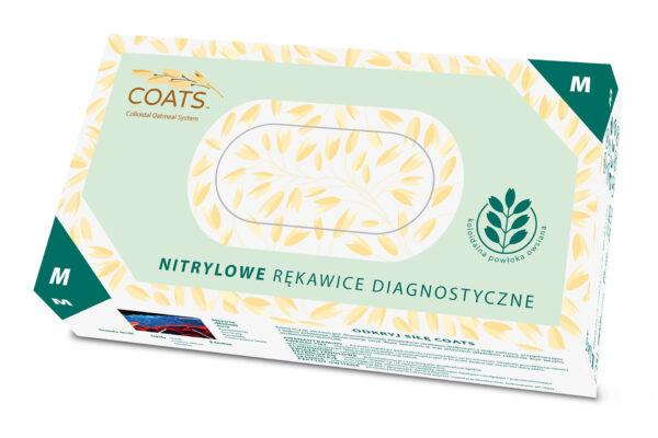 rękawiczki nitrylowe z owsem M