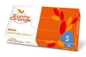 Rękawiczki nitrylowe jednorazowe Sunny Orange_S